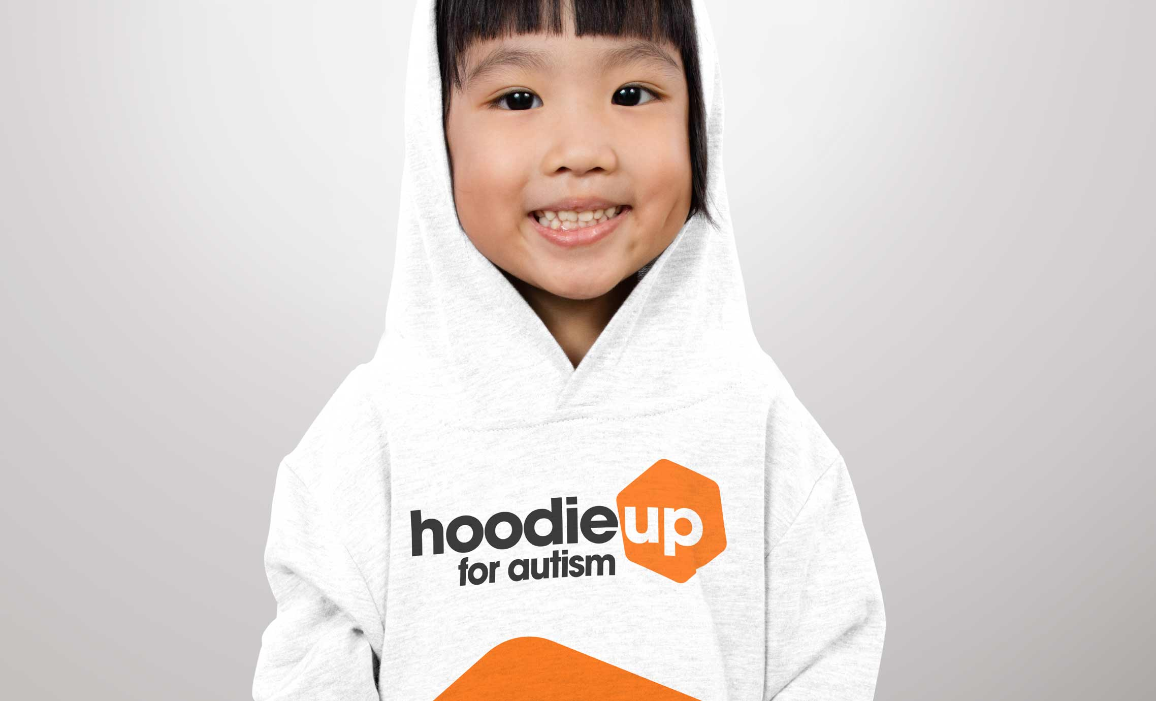 Girl in a hoodie fundraiser image for Hoodie Up